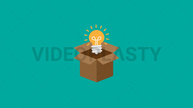 Think Outside the Box Flat Icon ANIMATION