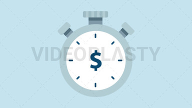 Time is Money Icon - Dollar ANIMATION