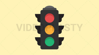 Traffic Light Icon ANIMATION