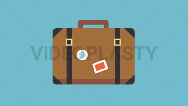 Travel Bag Flat Icon ANIMATION