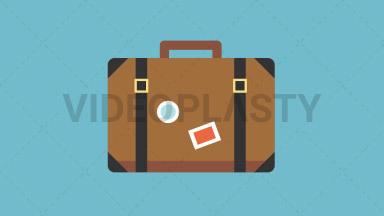 Travel Bag Flat Icon ANIMATION