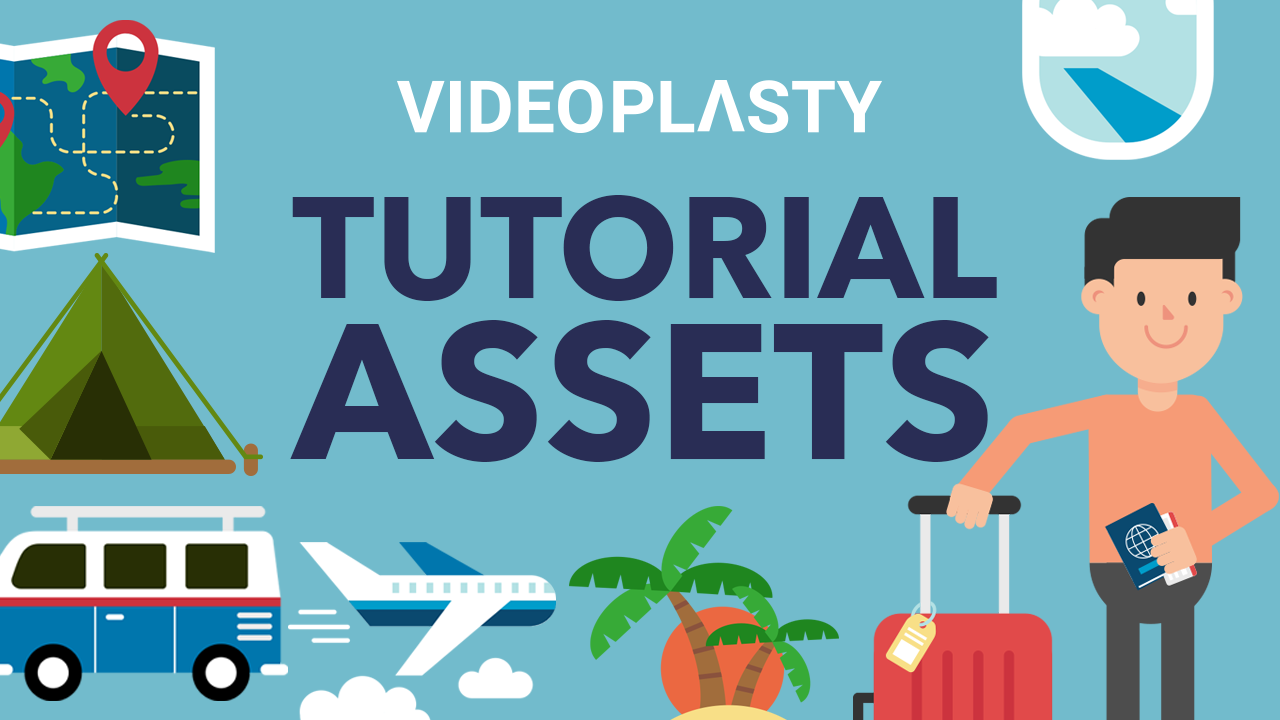 Tutorial Assets for Travel Video Royalty Free Stock Animation