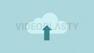 Upload to Cloud Icon ANIMATION