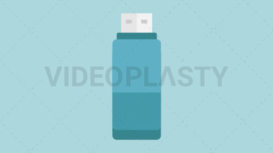 USB Stick Icon ANIMATION