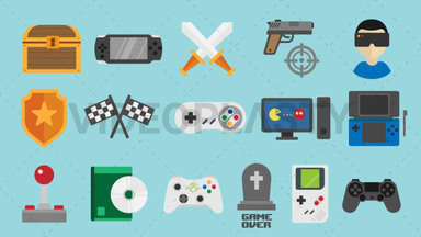 Video Games Pack - 16 Icons ANIMATION