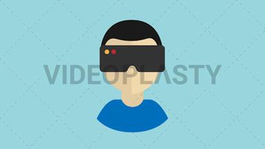 Virtual Reality Icon ANIMATION