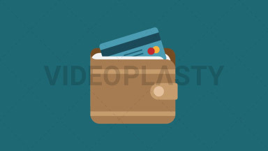 Wallet Flat Icon ANIMATION