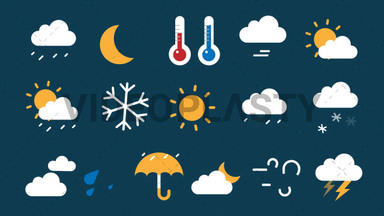 Weather Pack 16 Icons ANIMATION
