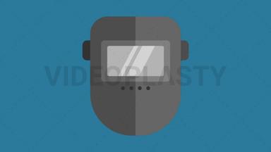 Welding Mask Icon ANIMATION