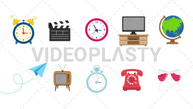 Objects Pack #1 Royalty Free Stock GIF Animation