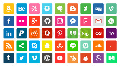 Social Media GIF Pack 45 Icons Royalty Free Stock GIF Animation