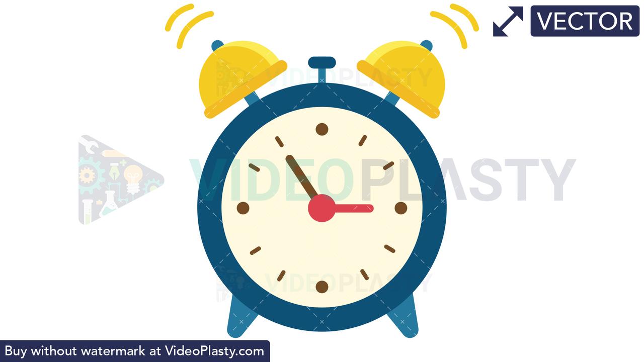 Alarm Clock Vector Clipart