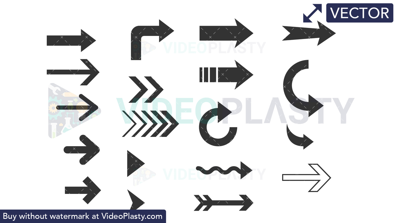 Arrows Bundle #1 Vector Clipart