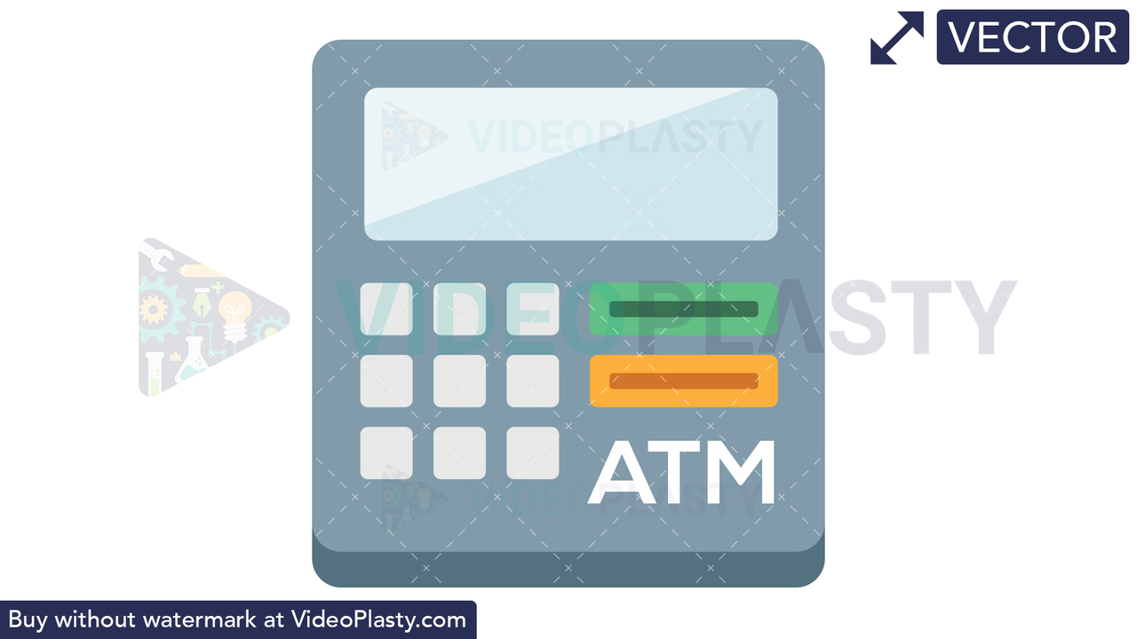 ATM Icon Vector Clipart
