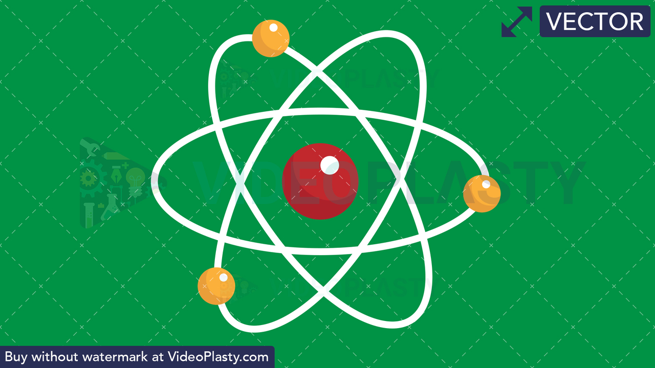 Atoms Flat Icon Vector Clipart