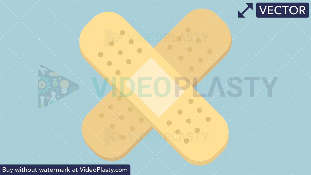 Band Aid Flat Icon Vector Clipart