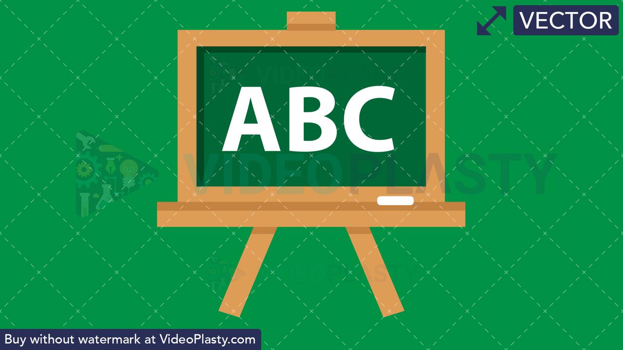 Blackboard Flat Icon Vector Clipart