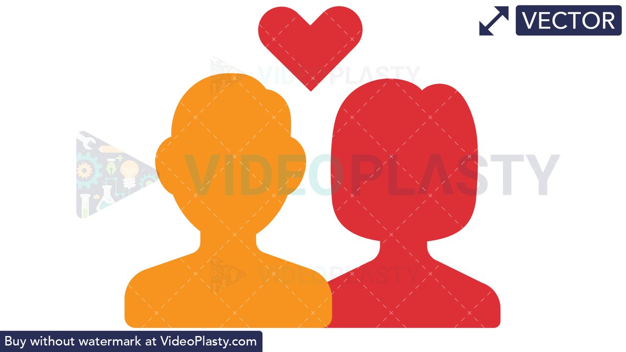 Boy and Girl in Love Vector Clipart