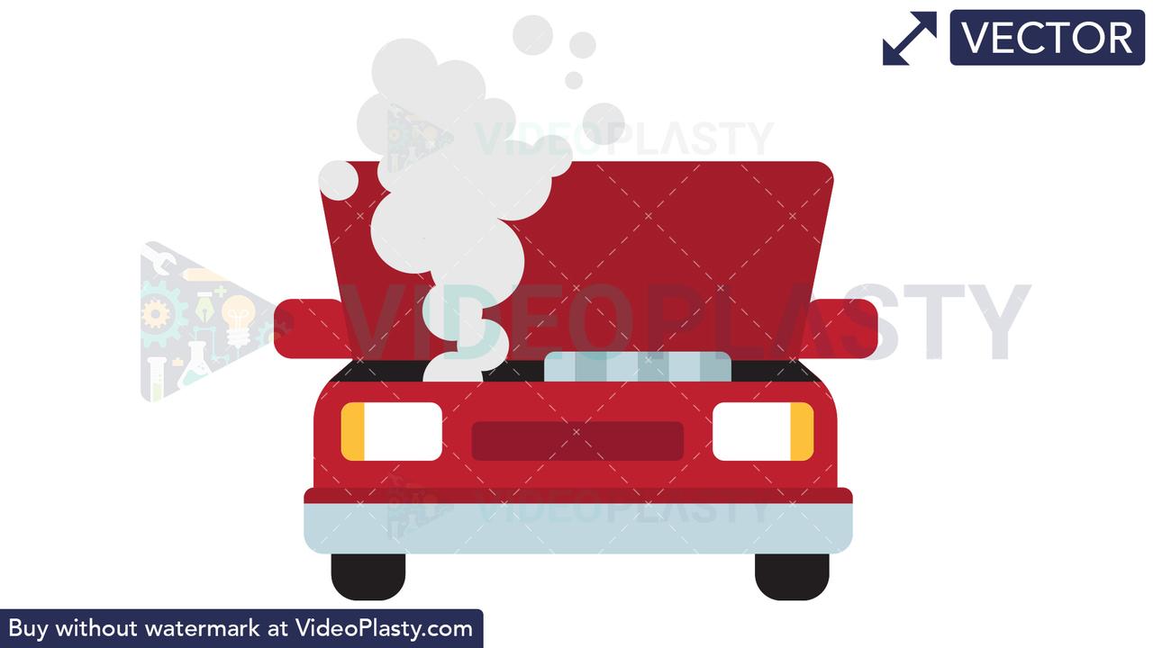 Broken Car Icon Vector Clipart