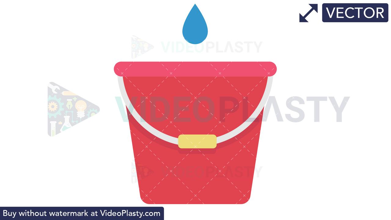 Bucket Icon Vector Clipart