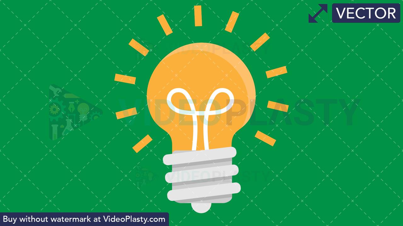 Bulb Flat Icon Vector Clipart