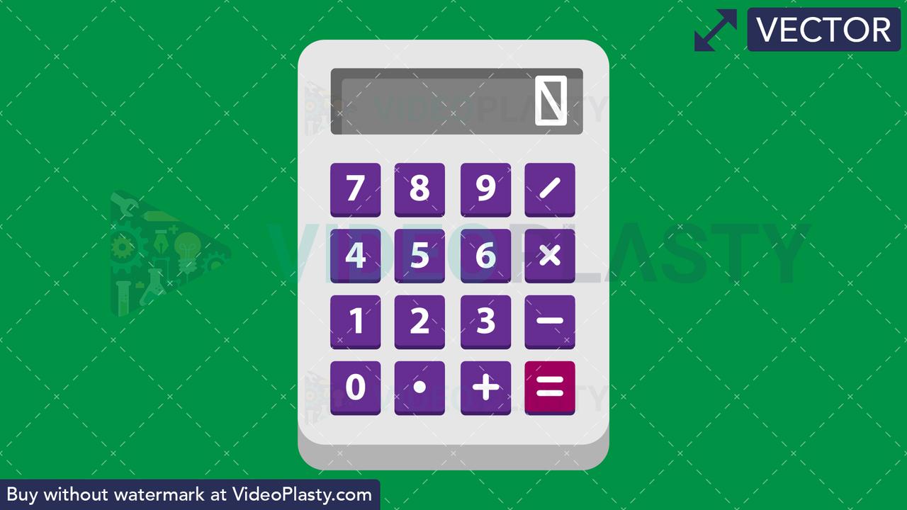 Calculator Flat Icon Vector Clipart