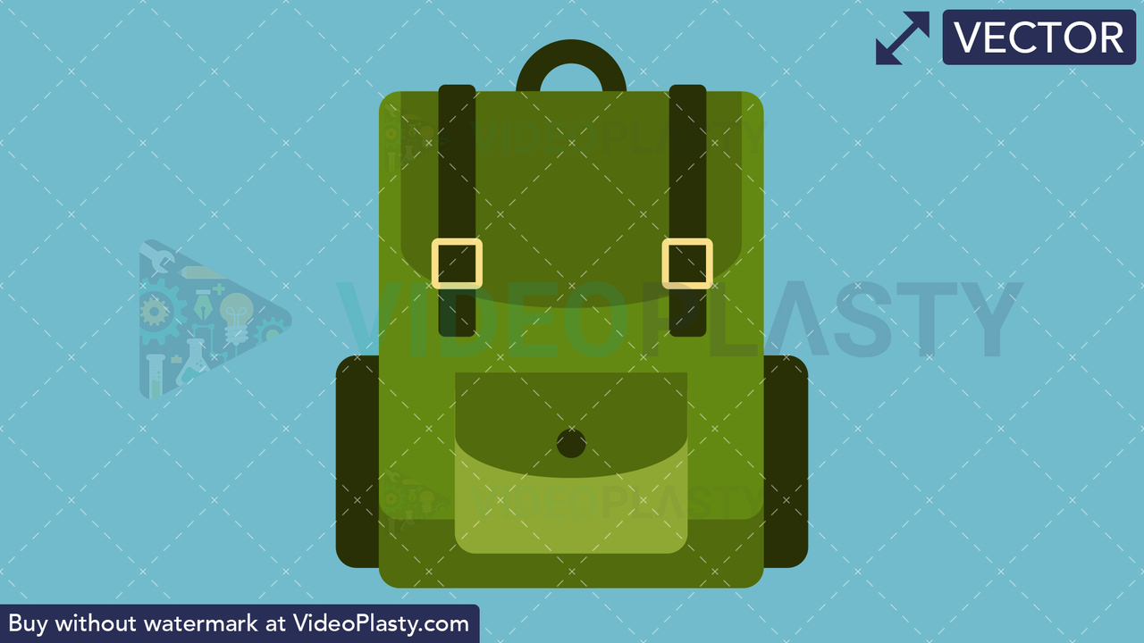 Camping Bag Flat Icon Vector Clipart