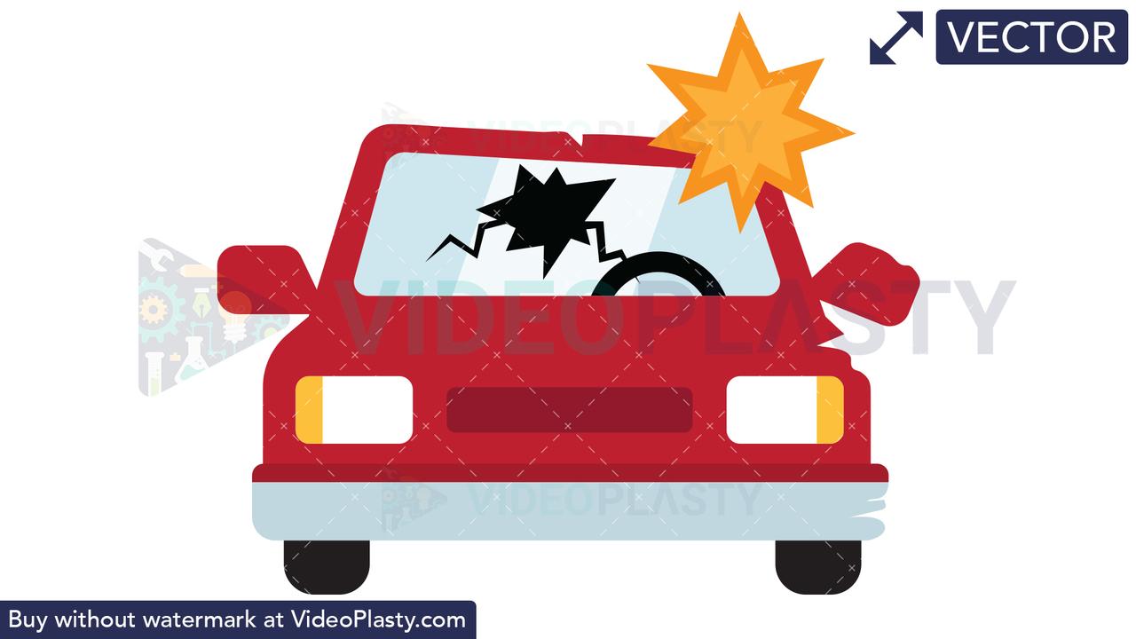 Car Crash Icon Vector Clipart