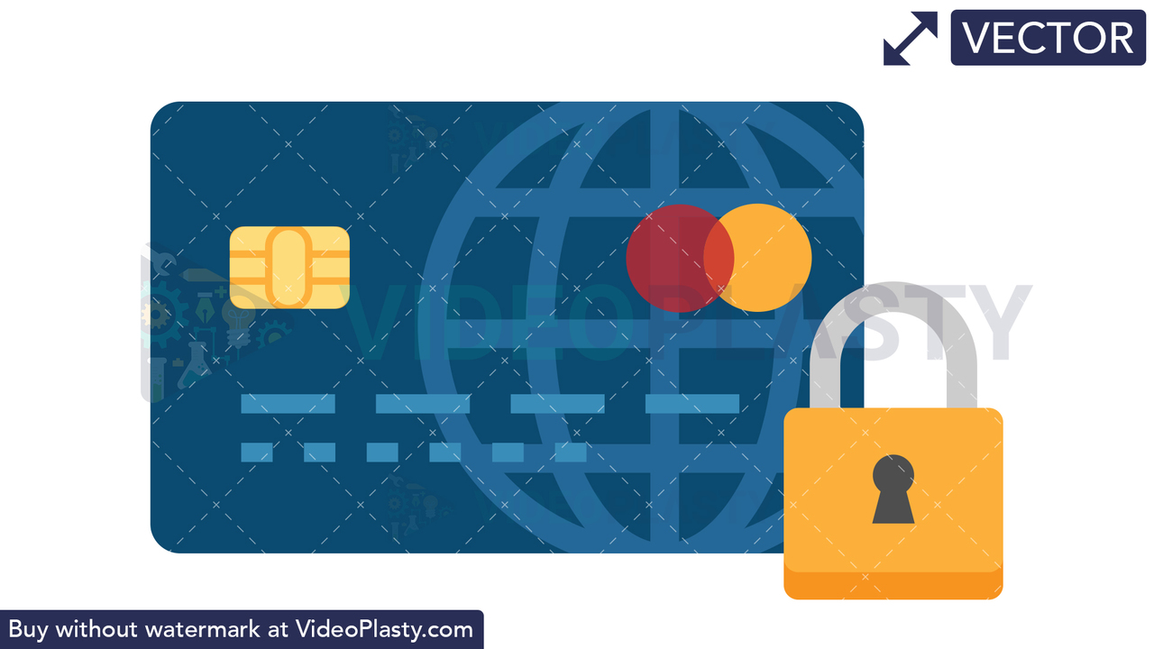 Card Security Icon Vector Clipart
