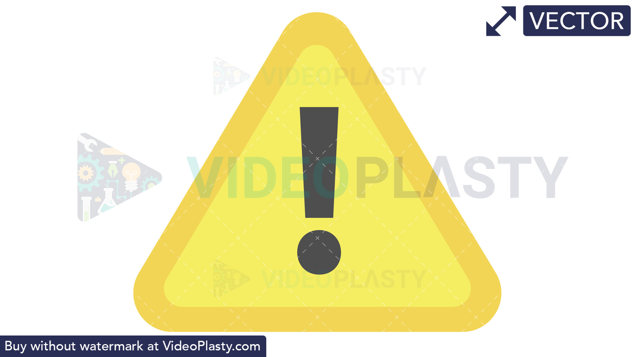 Caution Sign Icon Vector Clipart