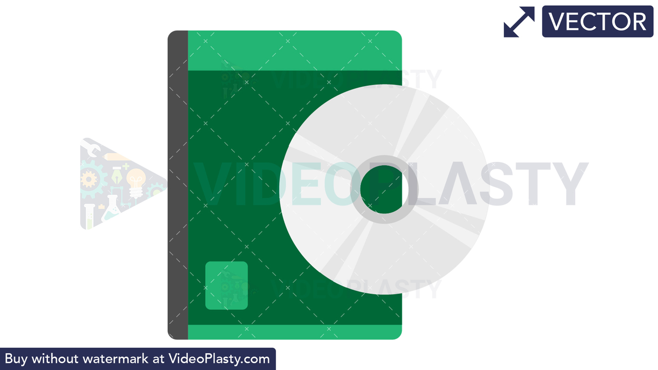 CD Box Icon Vector Clipart
