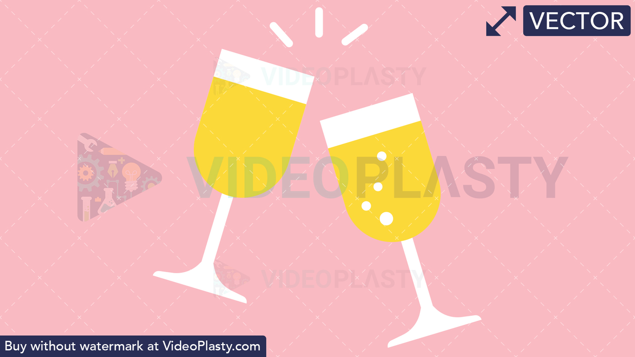 Champagne Toast Vector Clipart