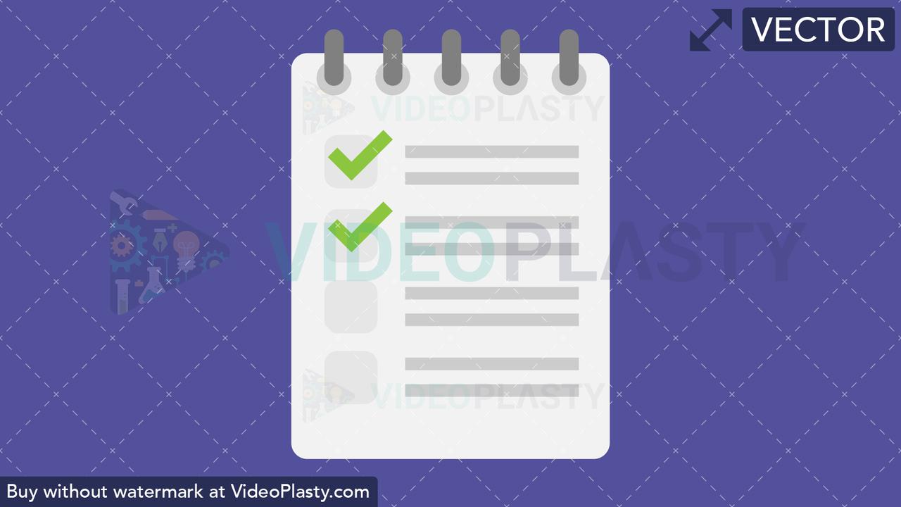 Checklist Flat Icon Vector Clipart