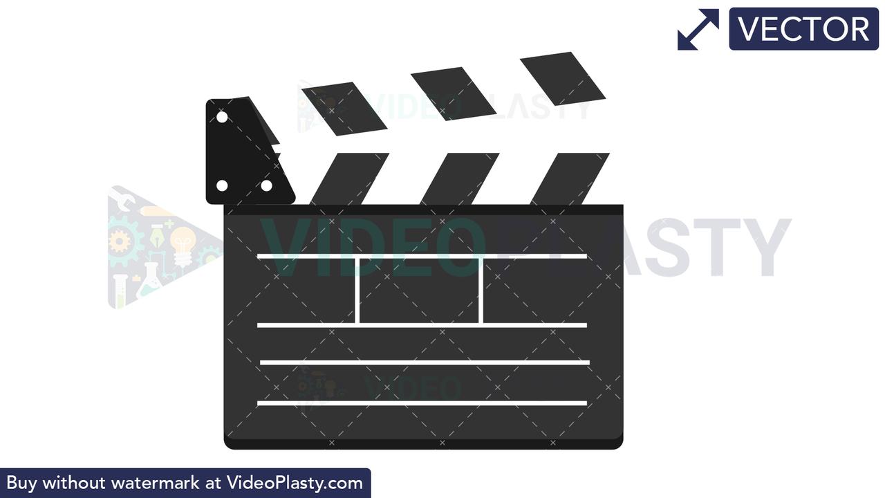 Clapper Board Vector Clipart