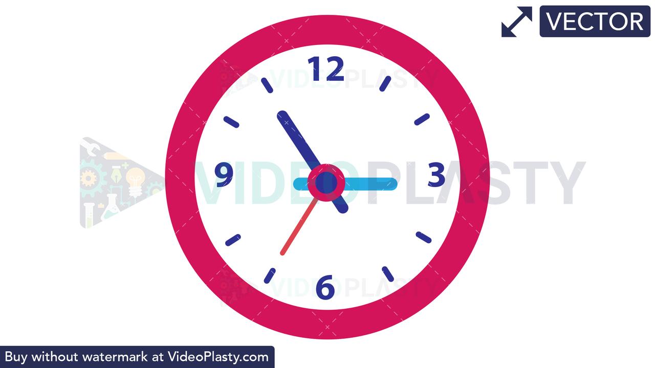 Clock Vector Clipart