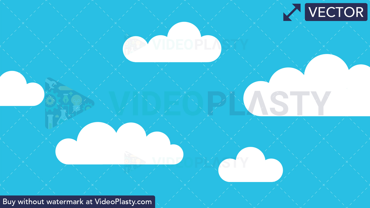 Clouds Moving in the Sky Vector Clipart