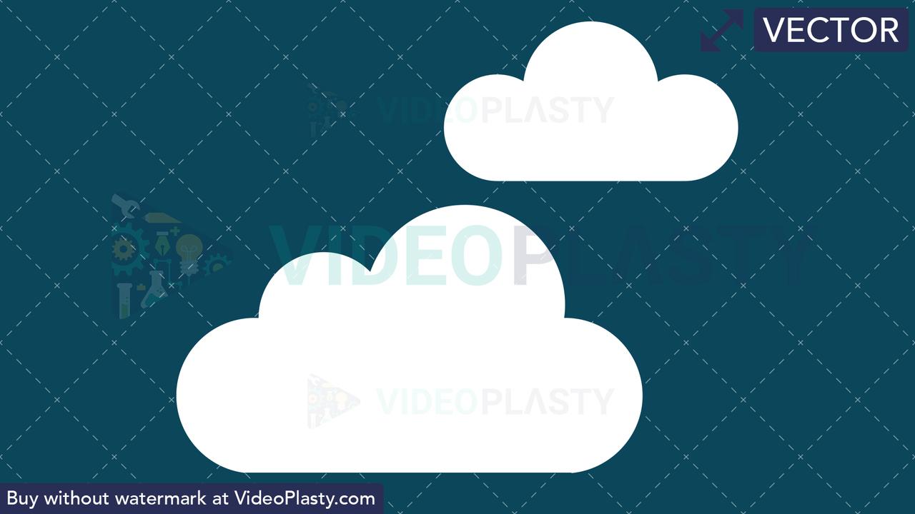 Cloudy Icon Vector Clipart