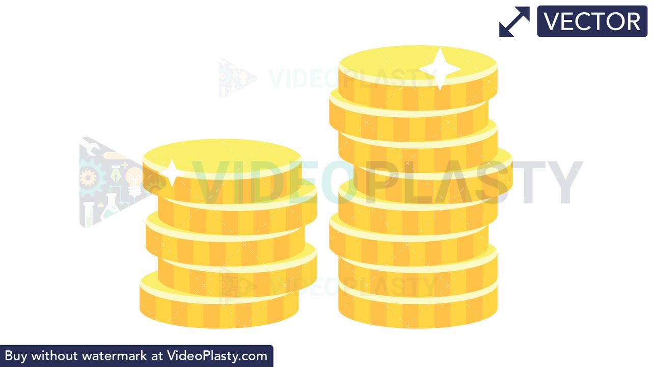 Coins Icon Vector Clipart