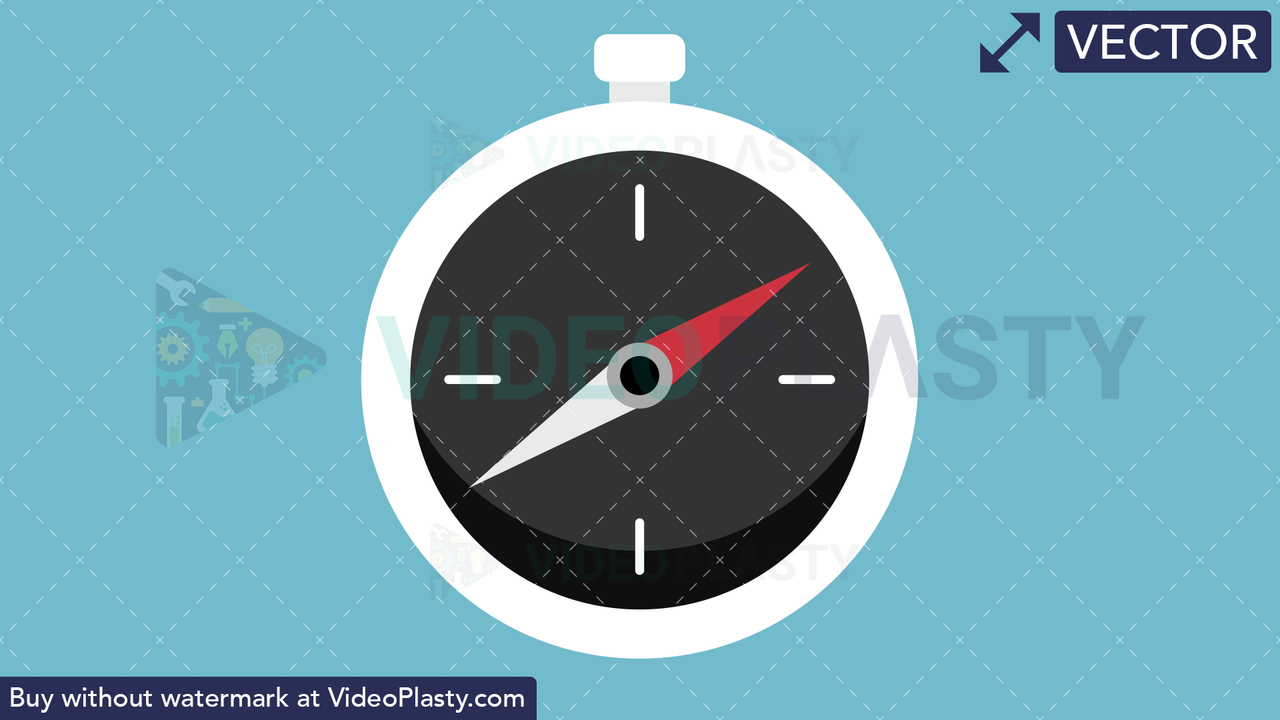 Compass Flat Icon Vector Clipart