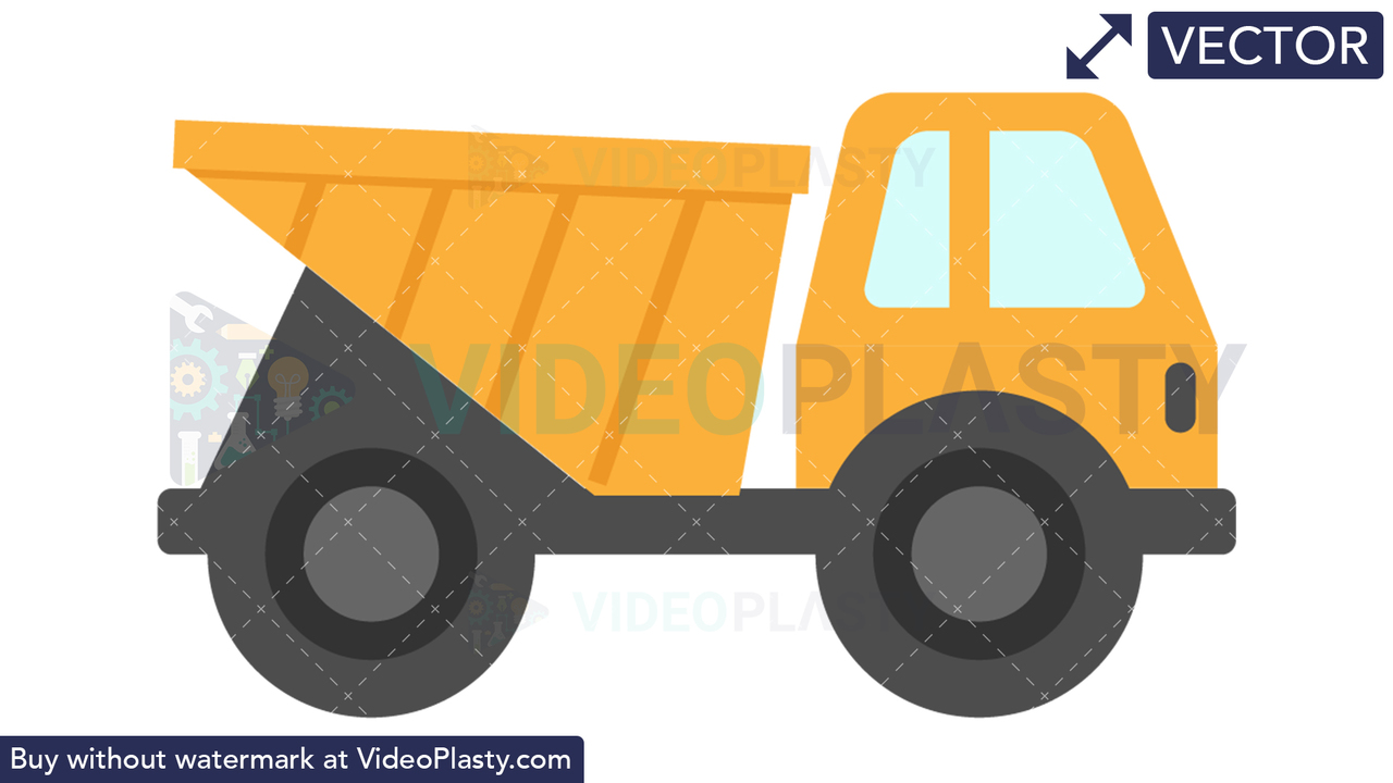 Construction Truck Icon Vector Clipart