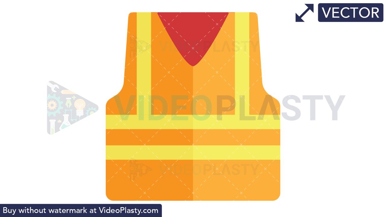 Construction Vest Icon Vector Clipart