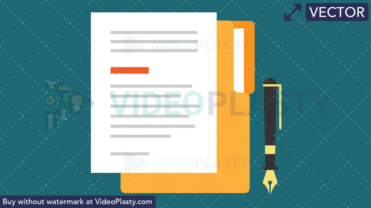 Contract Flat Icon Vector Clipart
