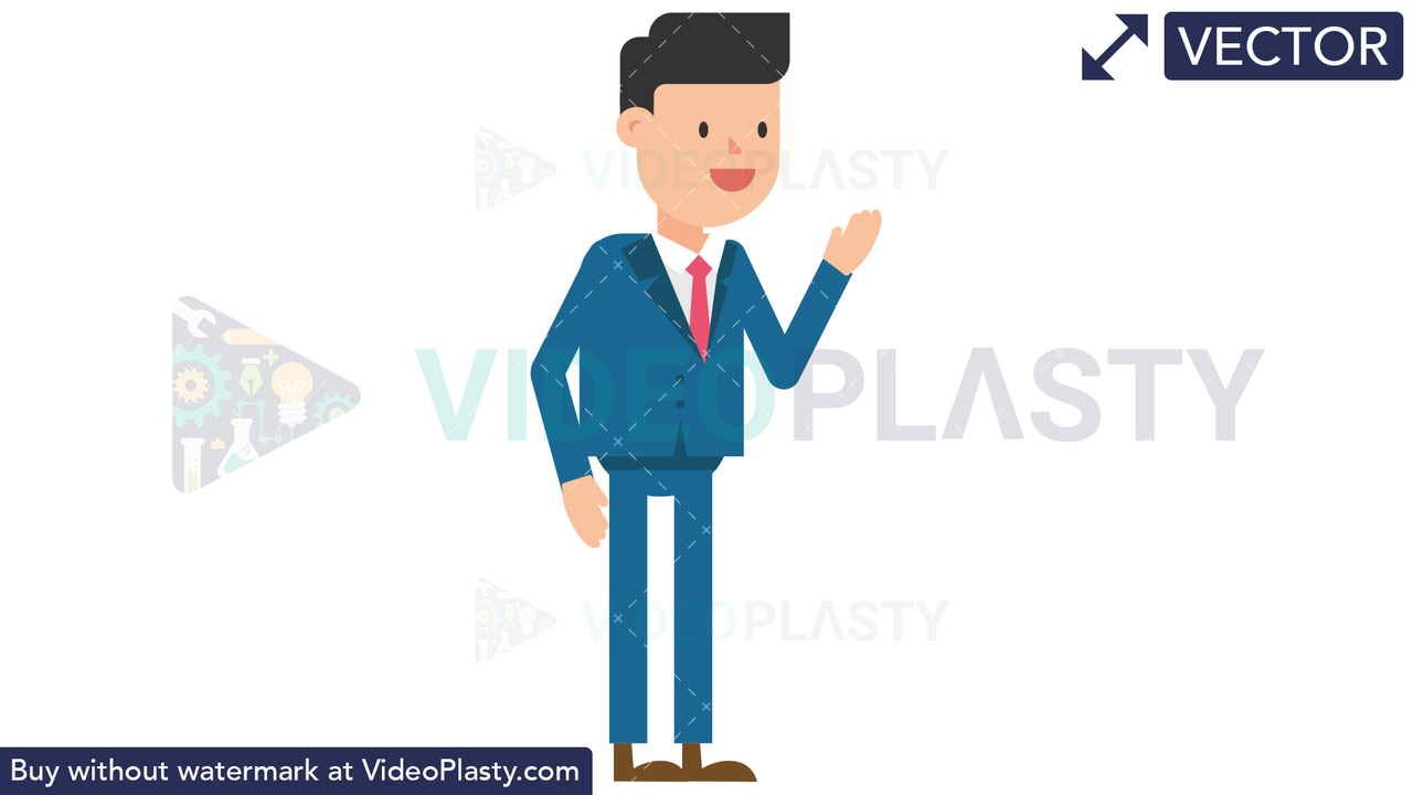 Corporate Man Discussing Vector Clipart