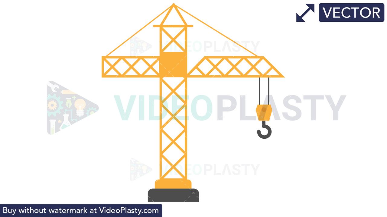 Crane Icon Vector Clipart
