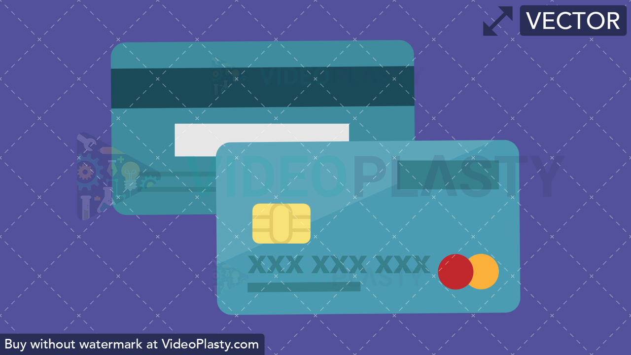Credit Card Flat Icon Vector Clipart