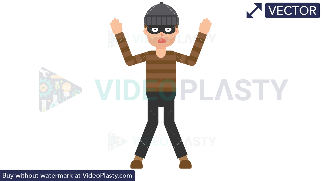 Criminal Caught Vector Clipart