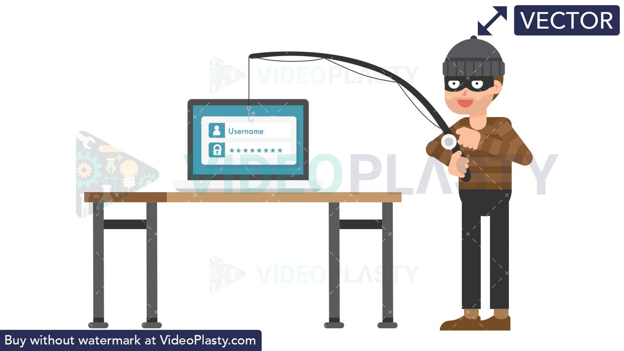 Criminal Phishing Vector Clipart