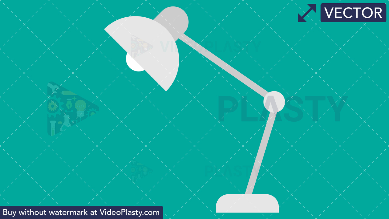 Desk Lamp Flat Icon Vector Clipart