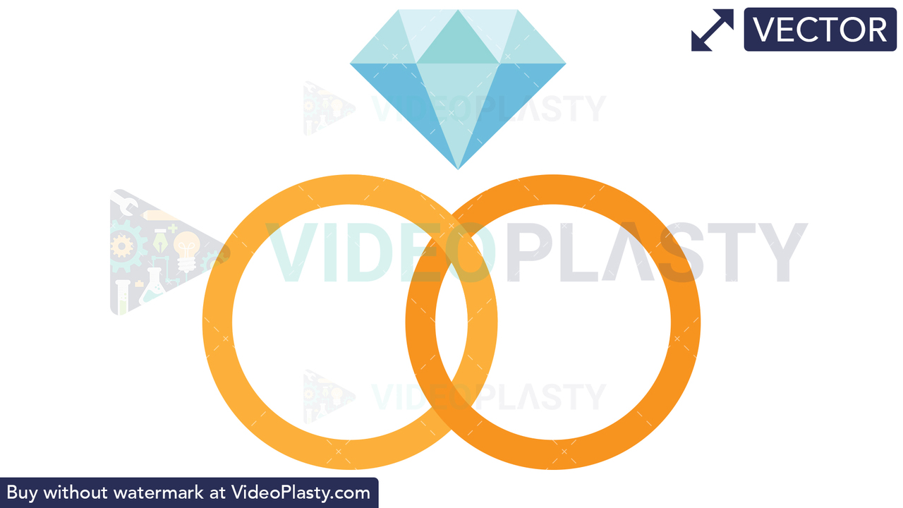 Diamond Ring Vector Clipart