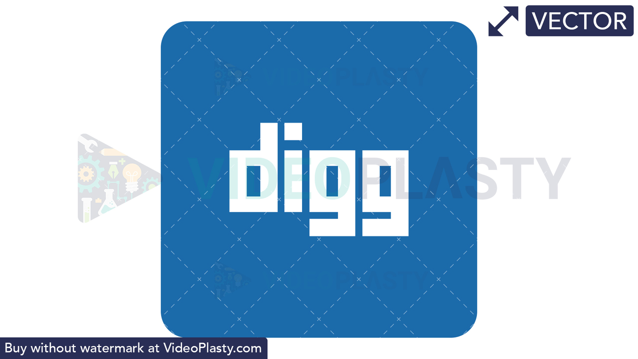 Digg Icon Vector Clipart